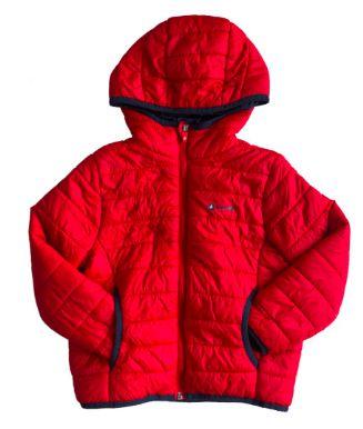 Casaco Mountain Infantil Vermelho Nylon