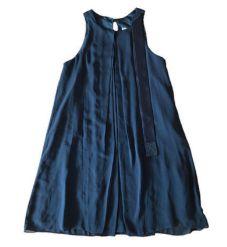 Vestido Maria Filó Feminino Preto Tecido Fino
