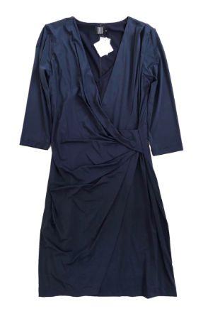 Vestido Didi Azul Marinho Manga Longa Liganete
