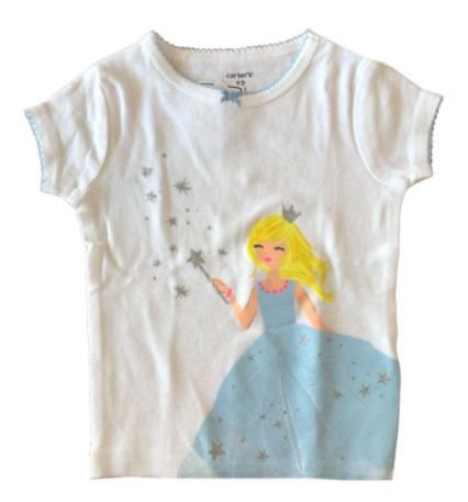Camiseta CARTER'S Infantil Branca Princesa