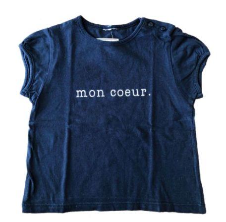 Camiseta Infantil Azul Marinho Mon Coeur