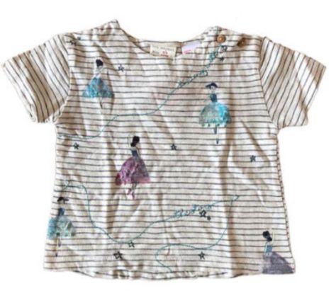 Blusa Zara Listrada Bailarina