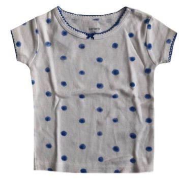 Camiseta Carter's Bolinha Azul