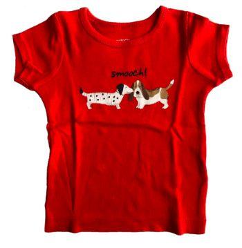 Camiseta CARTER'S Vermelha Cachorrinho