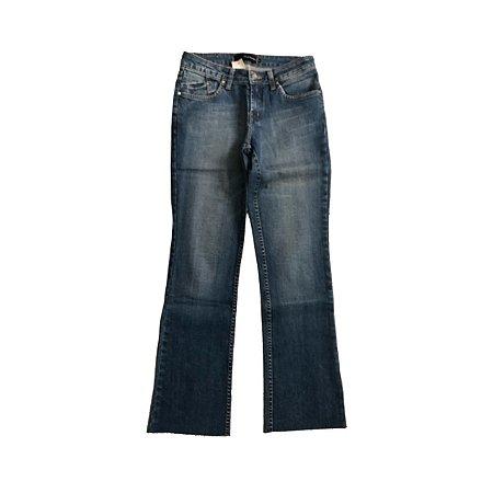 Calça LE LIS BLANC Jeans Claro com Barra Desfiada