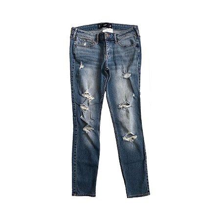 Calça Hollister Feminina Jeans Destroyed
