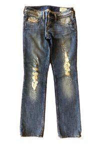 Calça DIESEL Feminina Jeans Rasgada nas Pernas