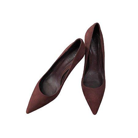 Sapato SCHUTZ Vinho Camurça Salto Fino Baixo