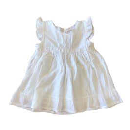 Vestido BABY FASHION Branco com Bolinhas Brancas