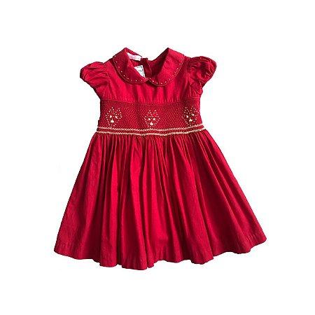 Vestido SWEETIE Infantil Vermelho Casinha de Abelha