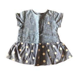 Vestido ZARA Infantil Jeans Poá