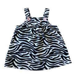 Vestido CARTER'S Infantil Zebra em Plush com Alça