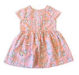 Vestido CARTER'S Infantil Rosa Cachorrinhos