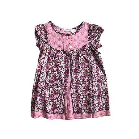 Vestido MACY'S Florido em Rosa