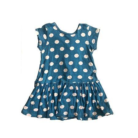 Vestido PUC Azul Poá com Calcinha