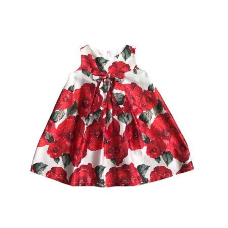 Vestido AMORECO Branco Flores Vermelhas (Com uma mancha)