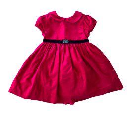 Vestido RALPH LAUREN Vermelho Veludo e Cinto Preto