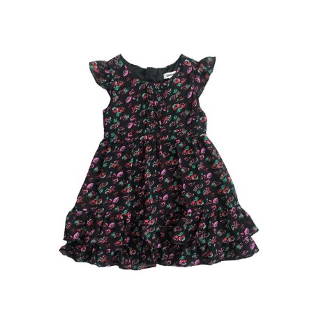 Vestido DKNY Infantil Preto Florido