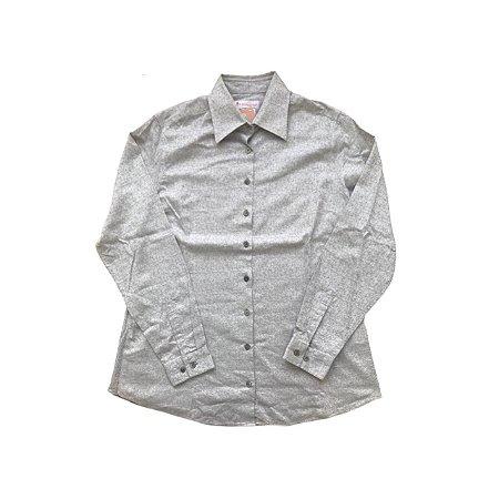Camisa DUDALINA Cinza Arabescos