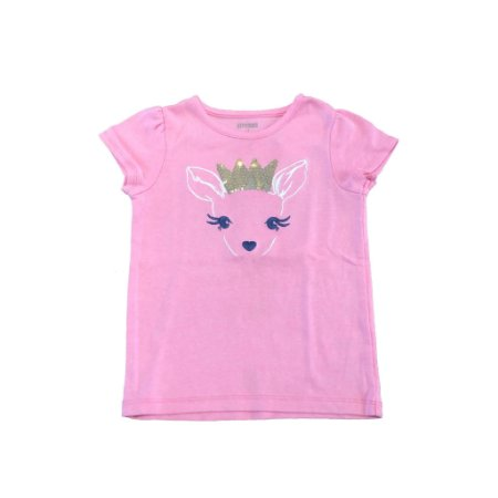 Camiseta GYMBOREE Rosa Chiclete com Desenho Bambi
