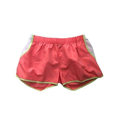 Shorts Ginástica RENNER Laranja com Faixa Branca Lateral