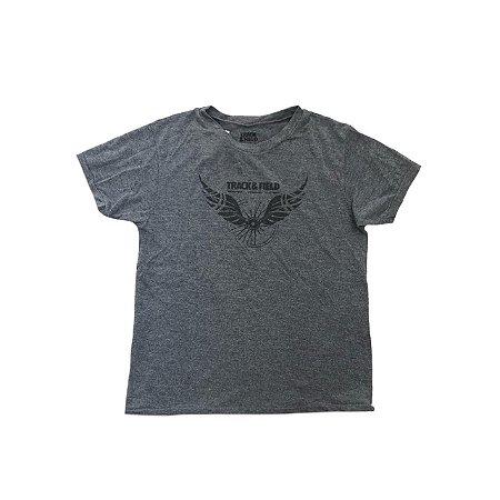 Camiseta TRACK & FIELD Infantil Cinza