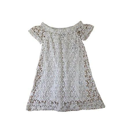 Vestido RALPH LAUREN Infantil Branco em Renda