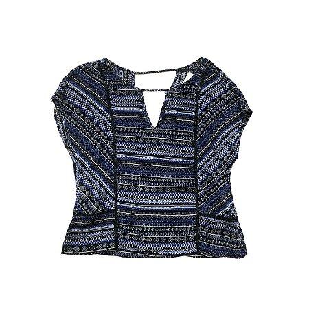 Blusa SHOULDER Azul, Preta e Branca (descosturada)