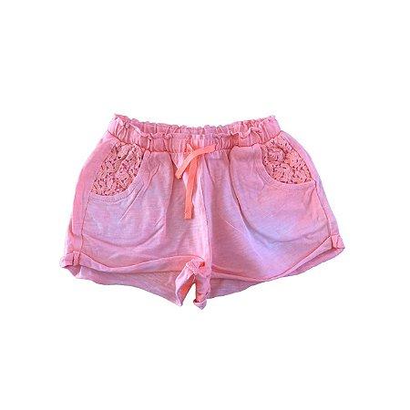 Shorts Zara Baby Girl Laranja Flúor