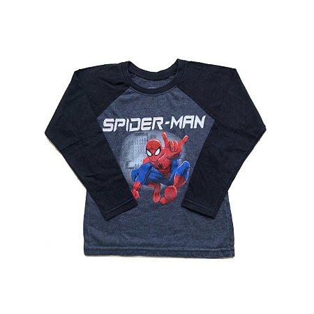 Camiseta MARVEL Azul Escuro Homem Aranha Manga Longa