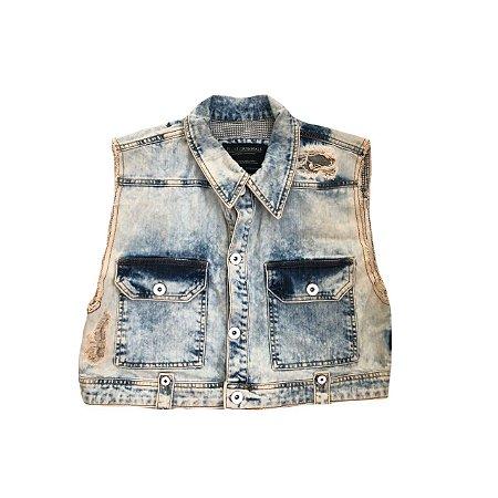 Colete Jeans ELLUS Cropped
