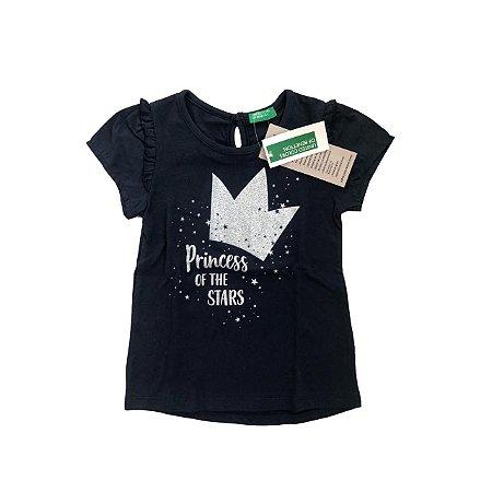 Camiseta BENETTON Marinho Princess Of The Stars (com Etiqueta)