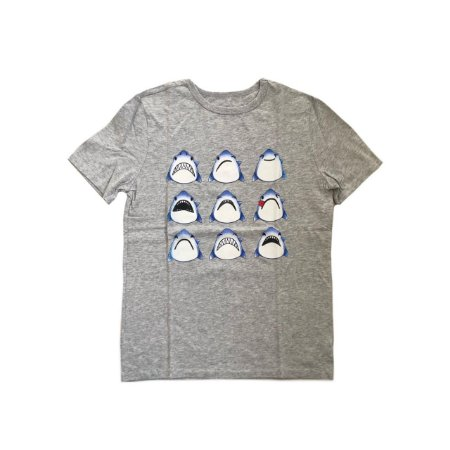Camiseta GAP KIDS  Infantil Cinza Tubarão
