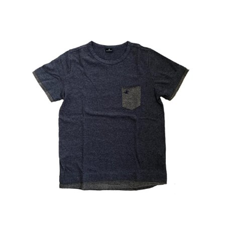 Camiseta BROOKSFIELD Infantil Azul com Bolso Cinza