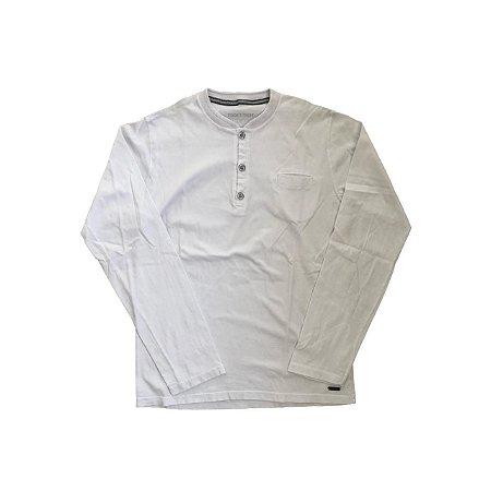 Camiseta TIGOR Infantil Branca Manga Longa