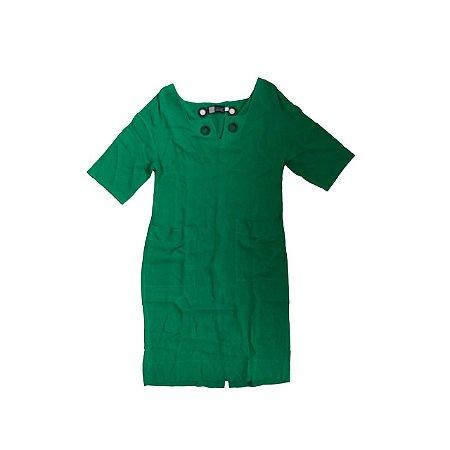 Vestido CLÉO AIDAR Feminino Verde em Linho