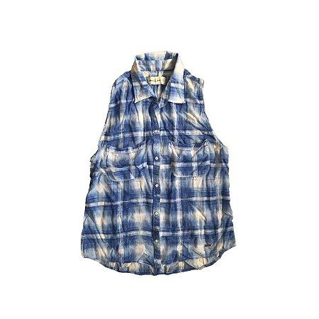 Camisa ABERCROMBIE Infantil Xadrez sem Manga