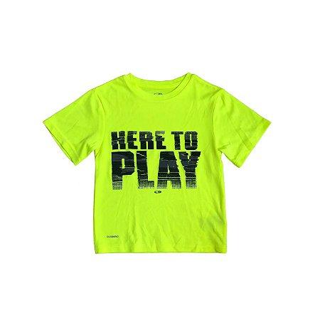 Camiseta CHAMPION Infantil Amarelo Fluor