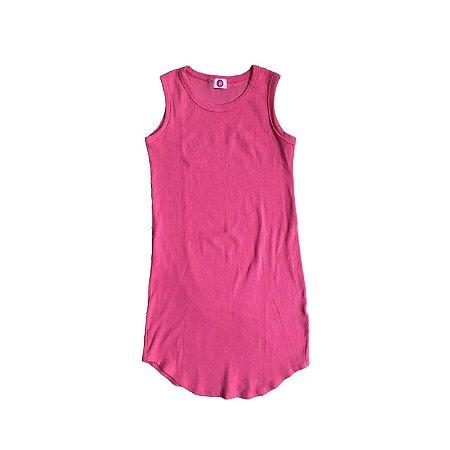 Vestido Malha Canelada : B Feminino Pink