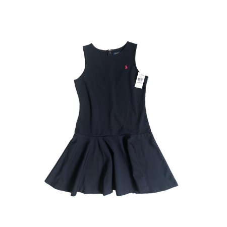 Vestido RALPH LAUREN Infantil Marinho em Moletom (com Etiqueta)