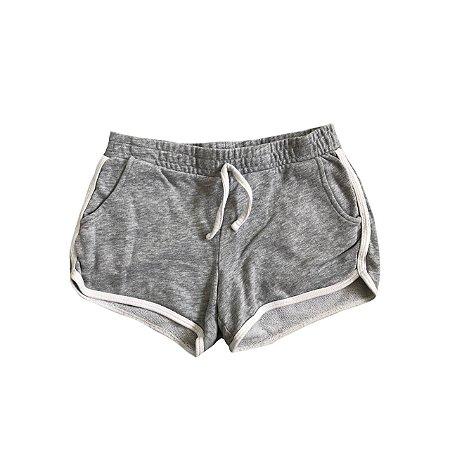 Shorts KIABI Infantil Algodão Cinza com Branco