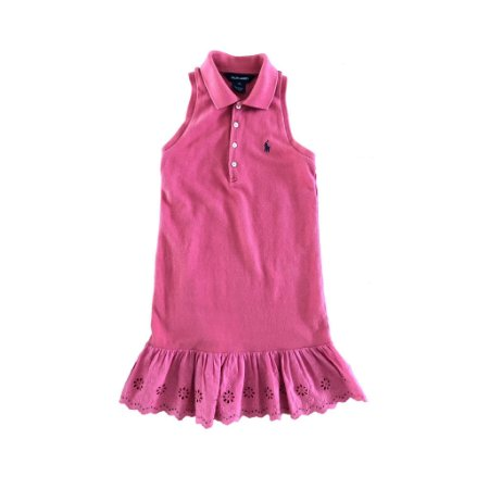 Vestido Ralph Lauren Polo Cereja com Lese Cavado