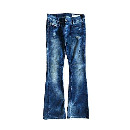 Calça Jeans Diesel Escura Destroyed