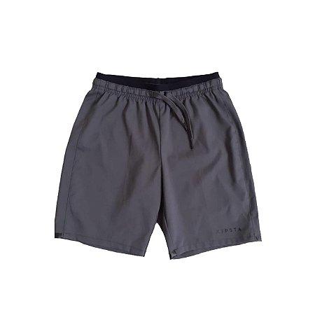 Shorts Tactel KIPISTA Cinza Chumbo