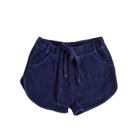 Shorts MINI VIDA Infantil Veludo Azul Marinho