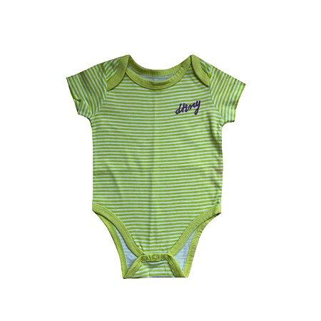 Bodie DKNY Infantil Branco e Verde Listras