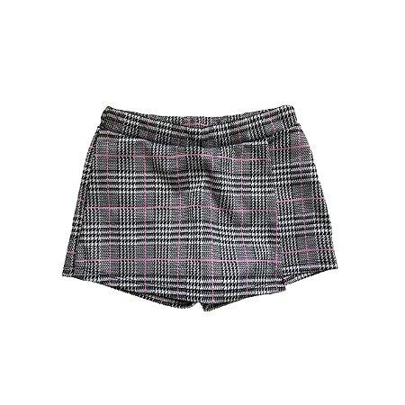 Shorts Saia Infantil Pied de Poule