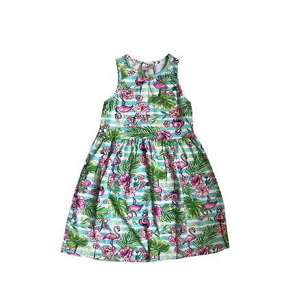 Vestido MOMI Infantil Flamingos