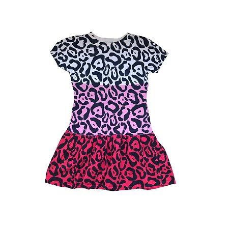 Vestido Trico KC PARKER Infantil Animal Print Colorido
