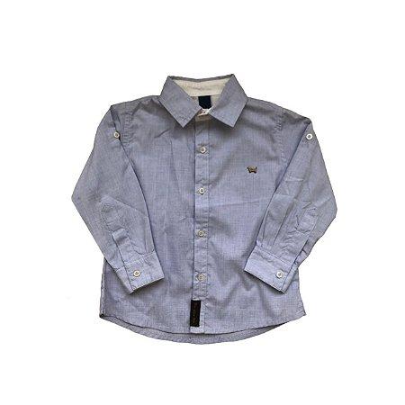 Camisa Social 1+1 Infantil Azul Claro